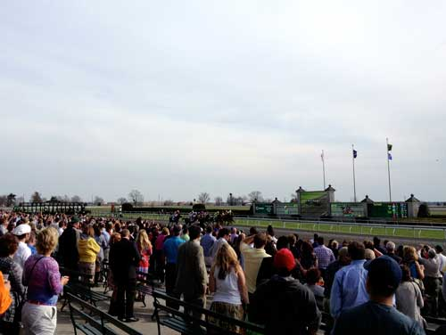 Start of race at Keeneland