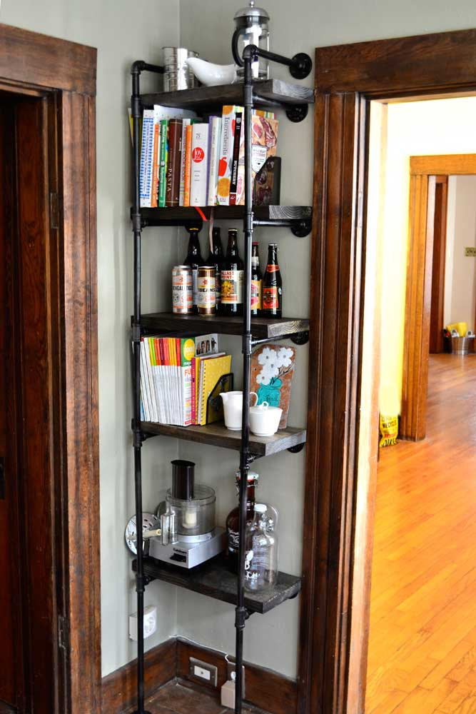 Rustic Industrial DIY Bookshelf | The Modern Gal
