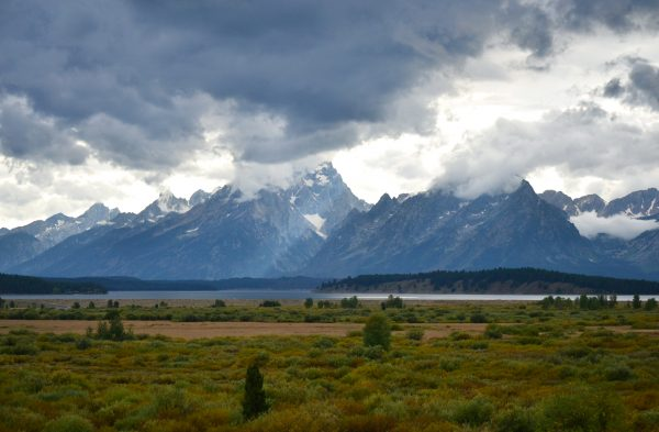 Grand Tetons with Clouds